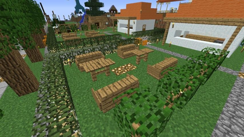 Minecrafterししゃもがマインクラフトでずっと前に作った公園をぷっこ村に移築して大改造劇的ビフォーアフター2