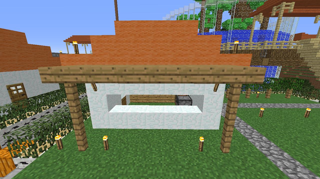 Minecrafterししゃもがマインクラフトでずっと前に作った公園をぷっこ村に移築して大改造劇的ビフォーアフター3