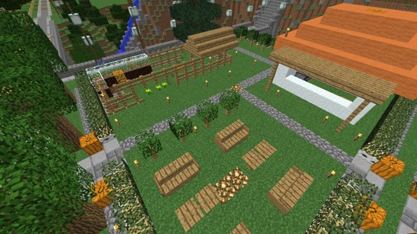 Minecrafterししゃもがマインクラフトでずっと前に作った公園をぷっこ村に移築して大改造劇的ビフォーアフター4