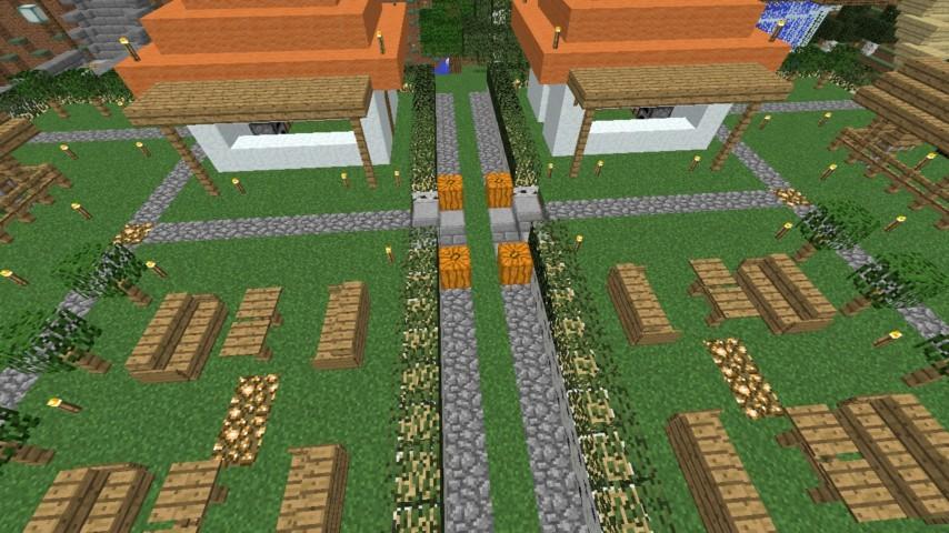 Minecrafterししゃもがマインクラフトでずっと前に作った公園をぷっこ村に移築して大改造劇的ビフォーアフター5