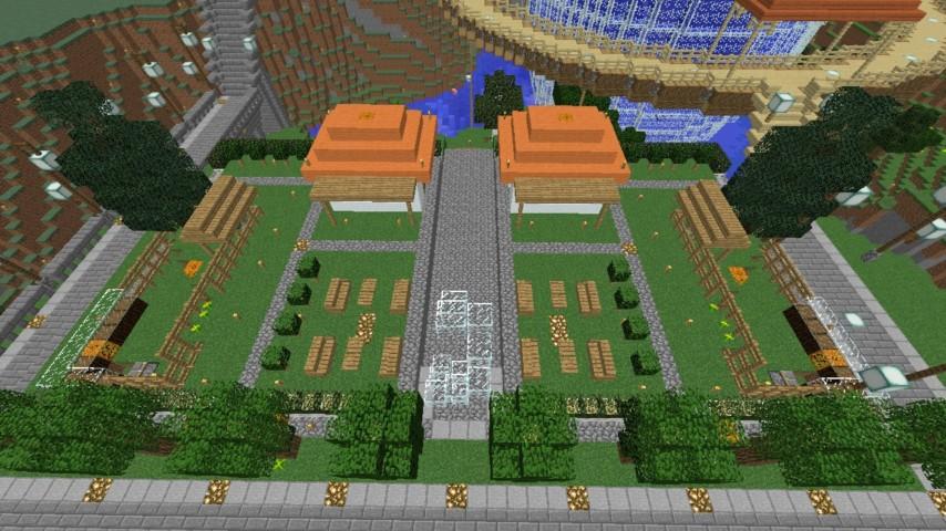 Minecrafterししゃもがマインクラフトでずっと前に作った公園をぷっこ村に移築して大改造劇的ビフォーアフター6