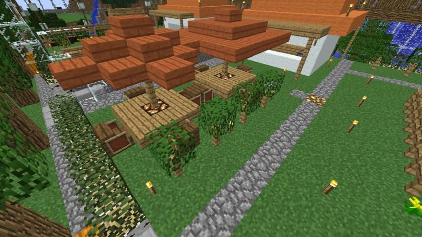 Minecrafterししゃもがマインクラフトでずっと前に作った公園をぷっこ村に移築して大改造劇的ビフォーアフター7