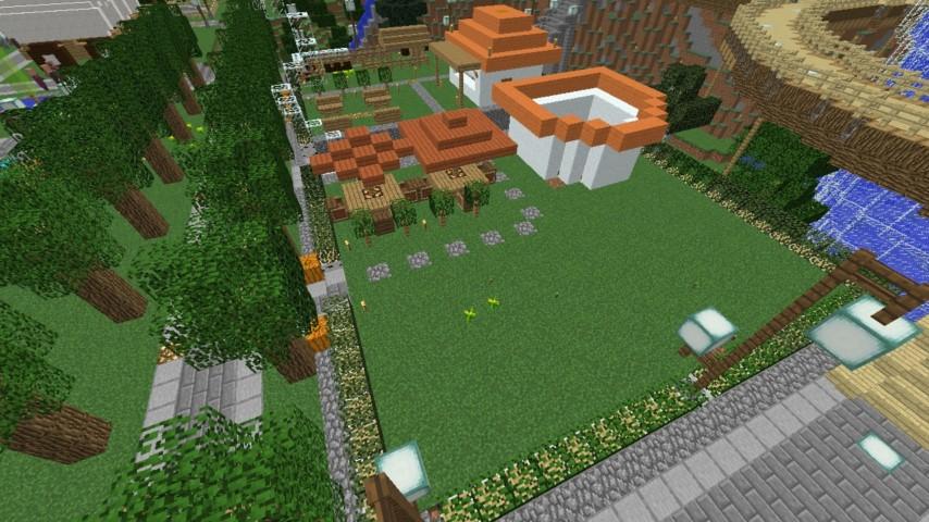 Minecrafterししゃもがマインクラフトでずっと前に作った公園をぷっこ村に移築して大改造劇的ビフォーアフター8