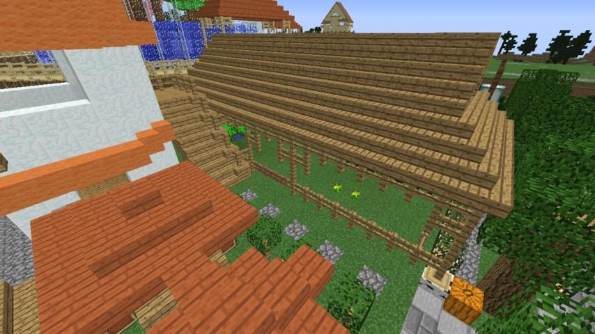Minecrafterししゃもがマインクラフトでずっと前に作った公園をぷっこ村に移築して大改造劇的ビフォーアフター10