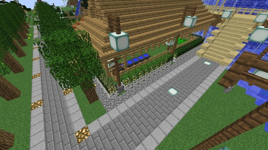 Minecrafterししゃもがマインクラフトでずっと前に作った公園をぷっこ村に移築して大改造劇的ビフォーアフター9