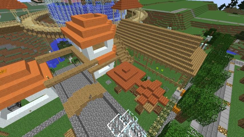 Minecrafterししゃもがマインクラフトでずっと前に作った公園をぷっこ村に移築して大改造劇的ビフォーアフター11