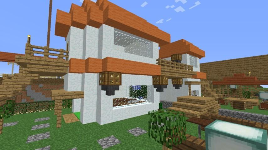Minecrafterししゃもがマインクラフトでずっと前に作った公園をぷっこ村に移築して大改造劇的ビフォーアフター12