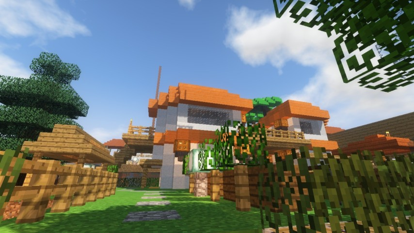 Minecrafterししゃもがマインクラフトでずっと前に作った公園をぷっこ村に移築して大改造劇的ビフォーアフター17