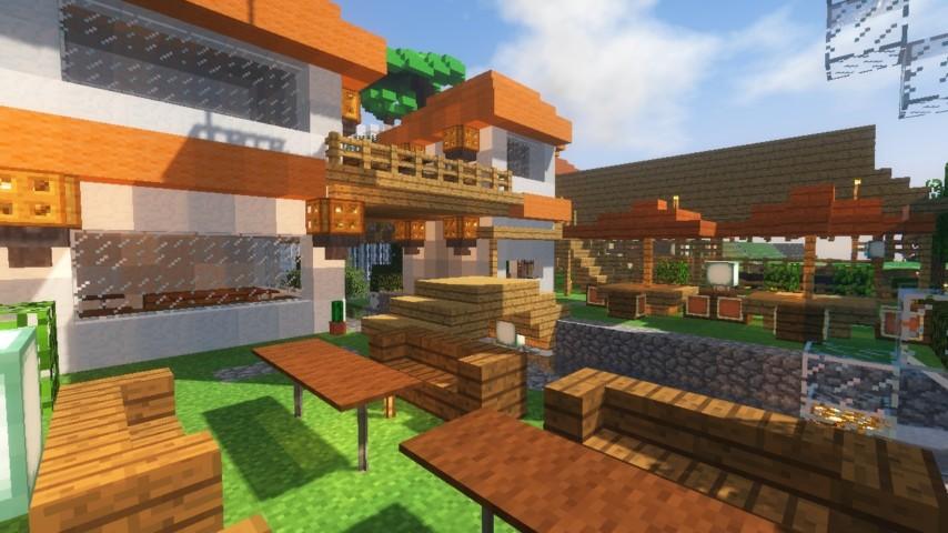 Minecrafterししゃもがマインクラフトでずっと前に作った公園をぷっこ村に移築して大改造劇的ビフォーアフター18