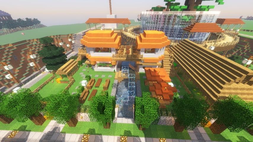 Minecrafterししゃもがマインクラフトでずっと前に作った公園をぷっこ村に移築して大改造劇的ビフォーアフター19