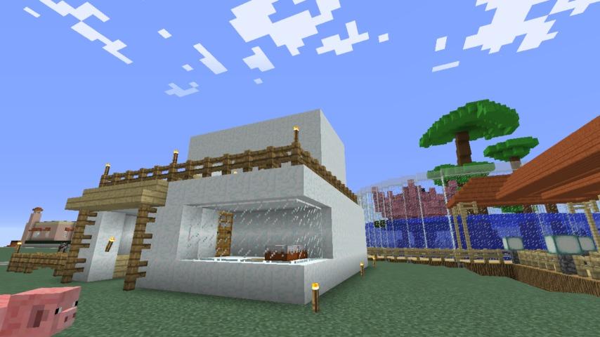 Minecrafterししゃもがマインクラフトで懐かしいお菓子屋をリメイクしてみる3