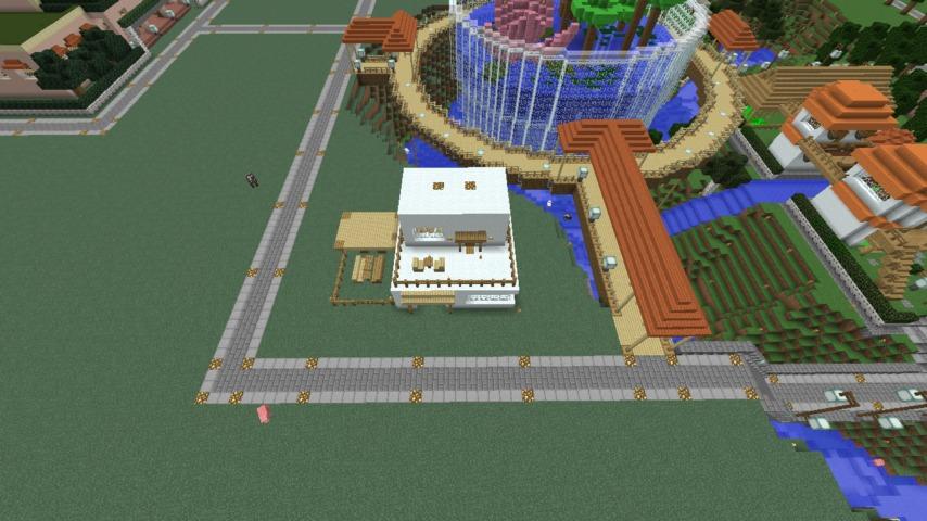 Minecrafterししゃもがマインクラフトで懐かしいお菓子屋をリメイクしてみる1