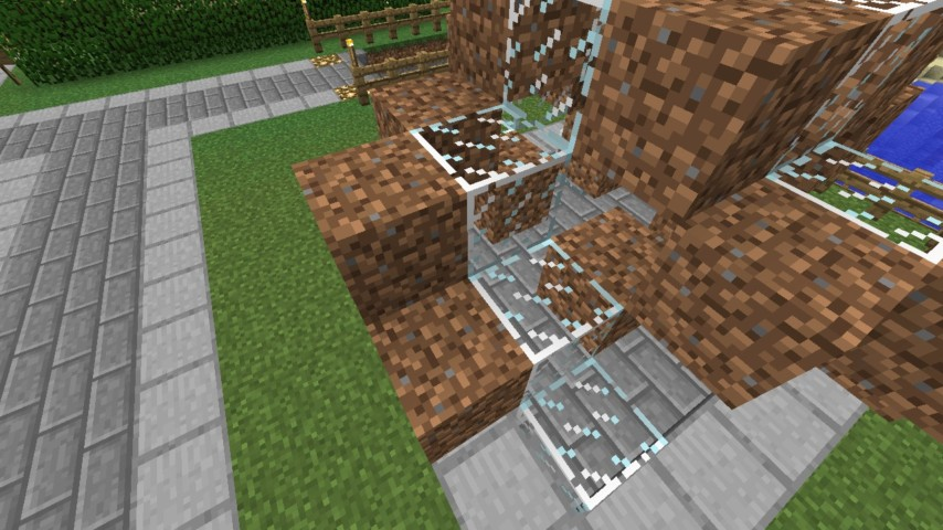 Minecrafterししゃもがマインクラフトでぷっこ村にオシャレな噴水を建設して作り方を茶番を演じながら紹介する18