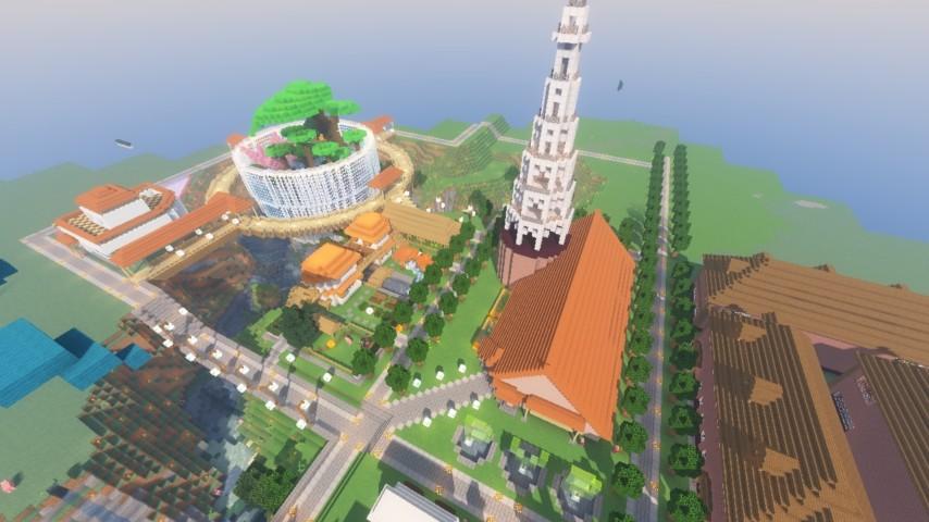Minecrafterししゃもがマインクラフトでずっと前に作った公園をぷっこ村に移築して大改造劇的ビフォーアフター20