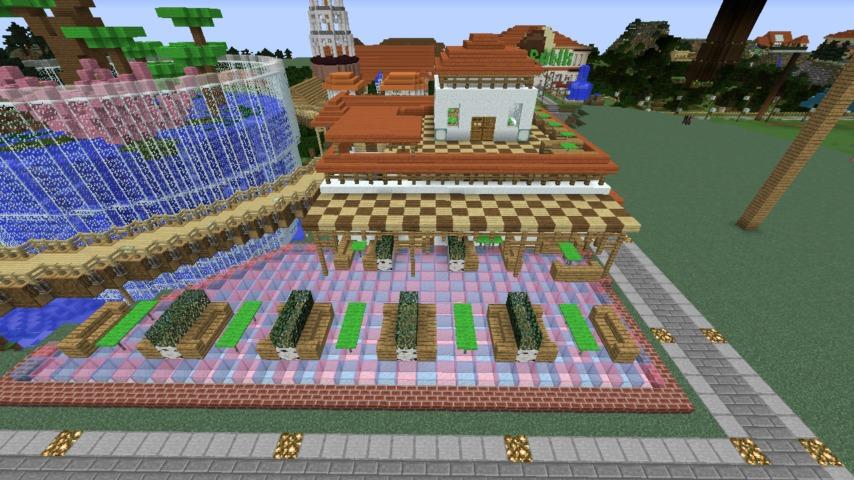Minecrafterししゃもがマインクラフトで懐かしいお菓子屋をリメイクしてみる12