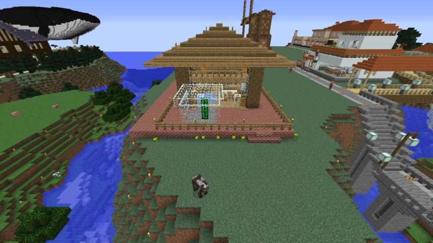 Minecrafterししゃもがマインクラフト懐かしいログハウスをリメイクする2