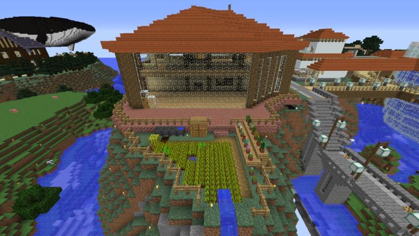 Minecrafterししゃもがマインクラフト懐かしいログハウスをリメイクする9