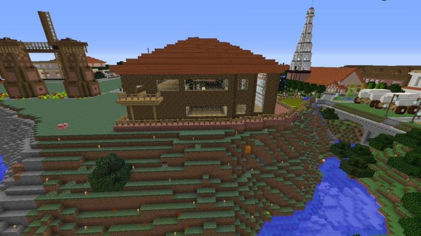 Minecrafterししゃもがマインクラフト懐かしいログハウスをリメイクする11