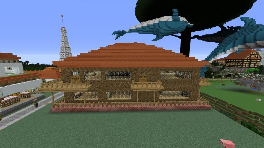 Minecrafterししゃもがマインクラフト懐かしいログハウスをリメイクする12