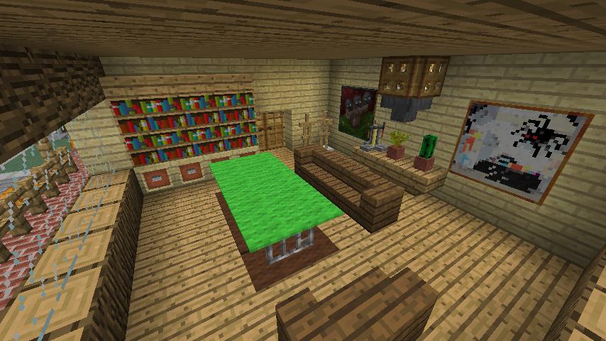 Minecrafterししゃもがマインクラフトでぷっこ村にログハウス風の別荘を建築して紹介する3