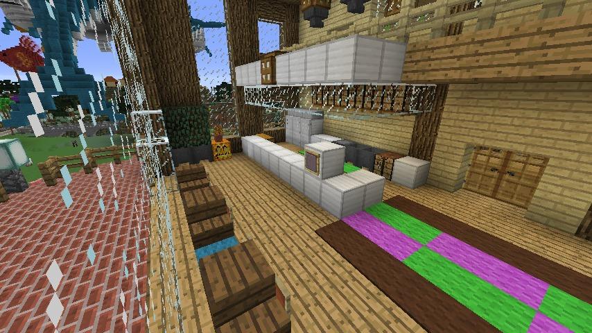 Minecrafterししゃもがマインクラフトでぷっこ村にログハウス風の別荘を建築して紹介する7