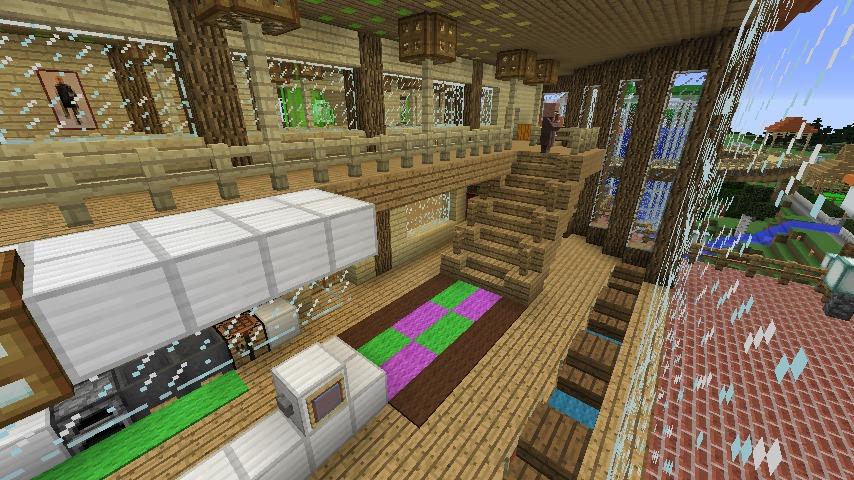 Minecrafterししゃもがマインクラフトでぷっこ村にログハウス風の別荘を建築して紹介する8