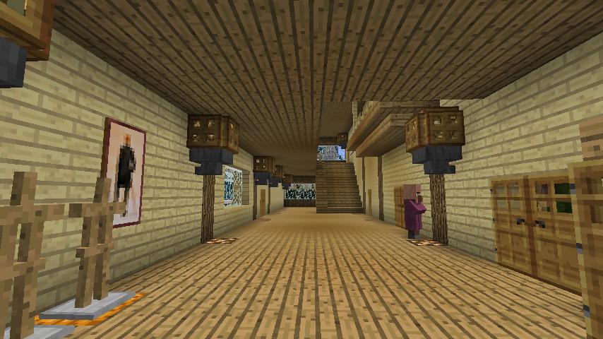 Minecrafterししゃもがマインクラフトでぷっこ村にログハウス風の別荘を建築して紹介する2