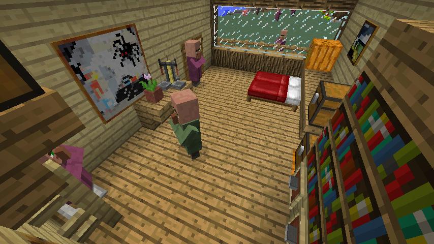 Minecrafterししゃもがマインクラフトでぷっこ村にログハウス風の別荘を建築して紹介する4