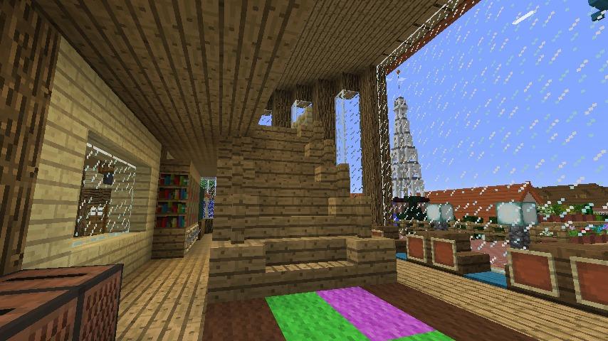 Minecrafterししゃもがマインクラフトでぷっこ村にログハウス風の別荘を建築して紹介する9