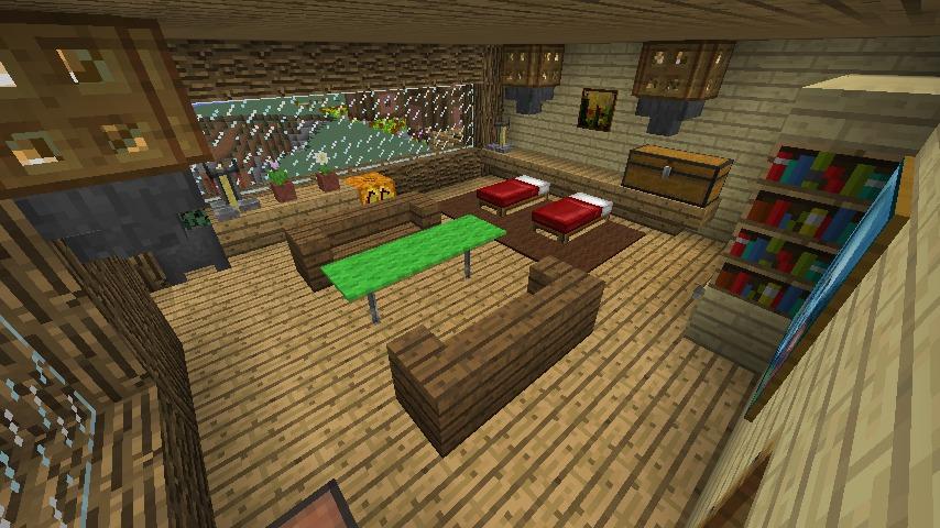 Minecrafterししゃもがマインクラフトでぷっこ村にログハウス風の別荘を建築して紹介する11