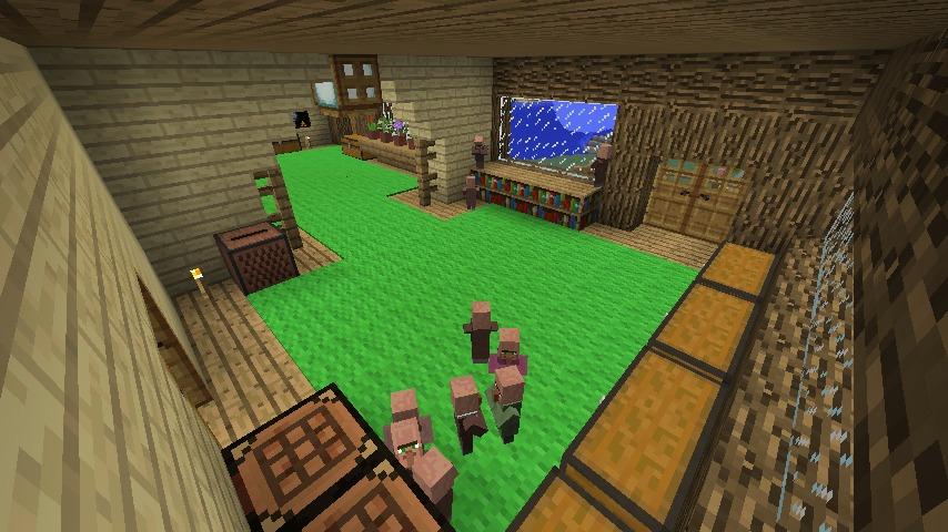 Minecrafterししゃもがマインクラフトでぷっこ村にログハウス風の別荘を建築して紹介する12