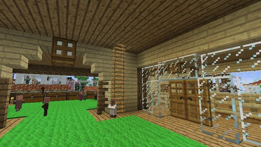 Minecrafterししゃもがマインクラフトでぷっこ村にログハウス風の別荘を建築して紹介する13