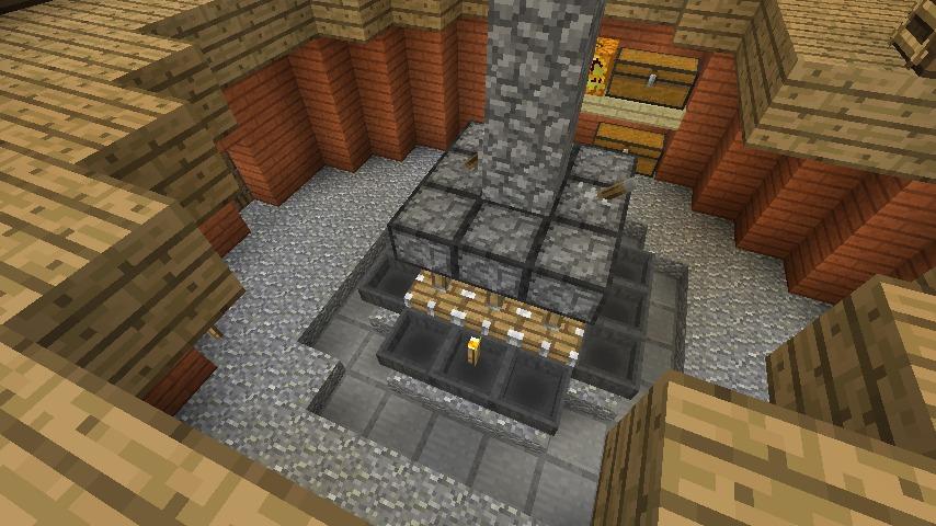 Minecrafterししゃもがマインクラフトでぷっこ村に三つ子の風車を作る14