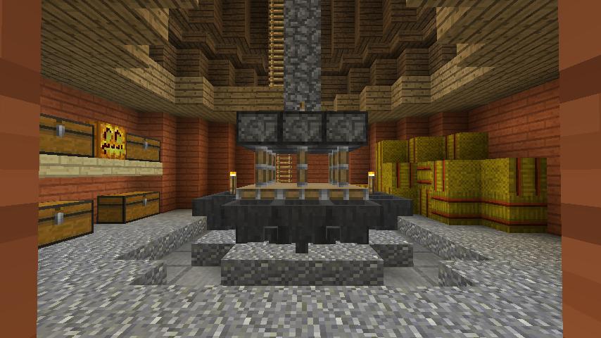 Minecrafterししゃもがマインクラフトでぷっこ村に三つ子の風車を作る13