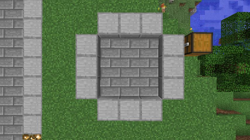 Minecrafterししゃもがマインクラフトでぷっこ村にウネウネした噴水を作る6