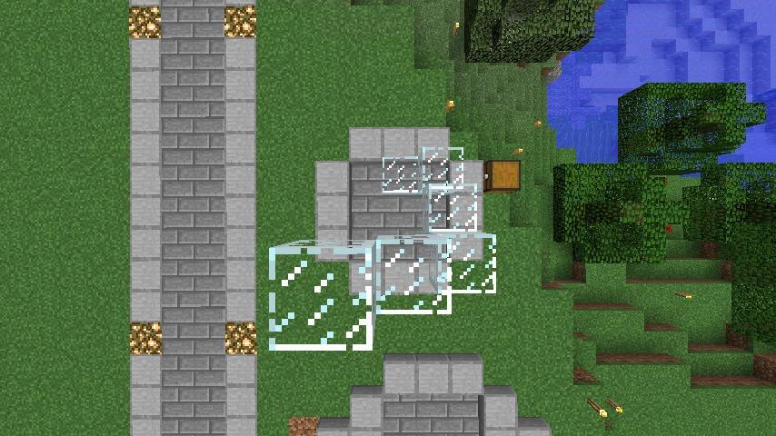Minecrafterししゃもがマインクラフトでぷっこ村にウネウネした噴水を作る9