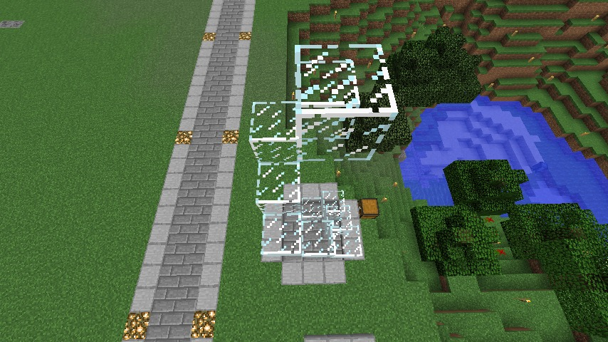 Minecrafterししゃもがマインクラフトでぷっこ村にウネウネした噴水を作る10