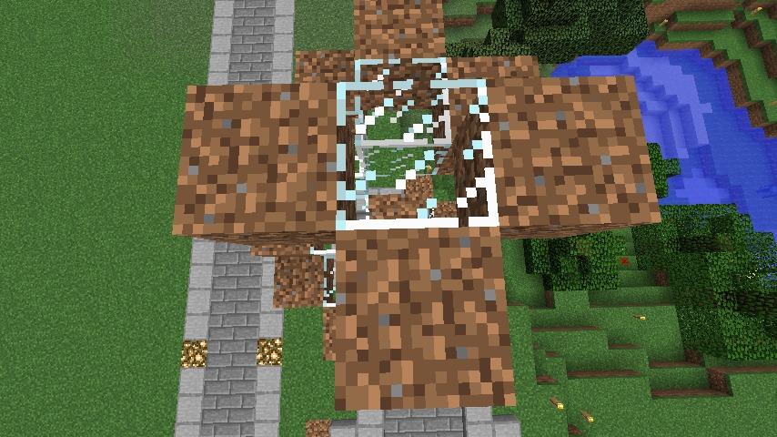 Minecrafterししゃもがマインクラフトでぷっこ村にウネウネした噴水を作る12