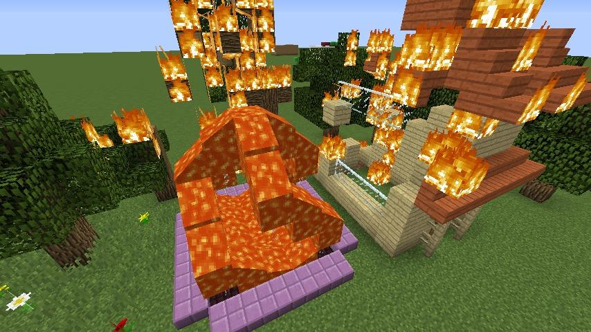 Minecrafterししゃもがマインクラフトでぷっこ村にウネウネした噴水を作る4