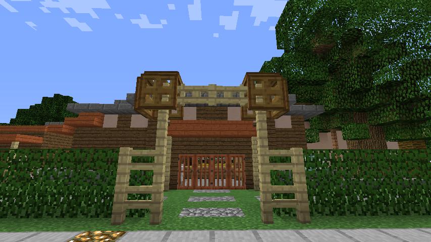 Minecrafterししゃもがマインクラフトでぷっこ村にサツキとメイの家を再現する11