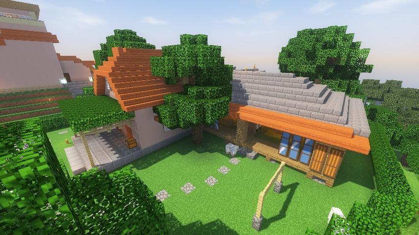 Minecrafterししゃもがマインクラフトでぷっこ村にサツキとメイの家を再現する15