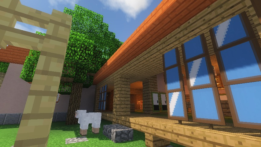 Minecrafterししゃもがマインクラフトでぷっこ村にサツキとメイの家を再現する16