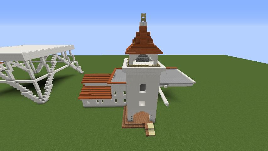 Minecrafterししゃもがマインクラフトでぷっこ村に綾ワイナリーをモデルにした金曜日のオレ工場を建設する3