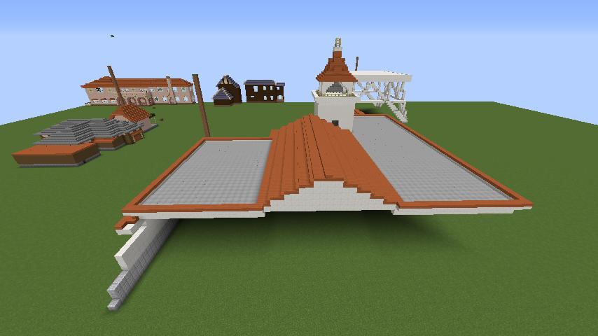Minecrafterししゃもがマインクラフトでぷっこ村に綾ワイナリーをモデルにした金曜日のオレ工場を建設する6