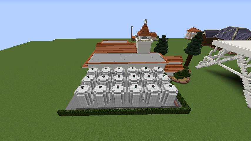 Minecrafterししゃもがマインクラフトでぷっこ村に綾ワイナリーをモデルにした金曜日のオレ工場を建設する8