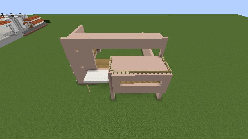 Minecrafterししゃもがマインクラフトでぷっこ村にスタジオジブリを再現する1