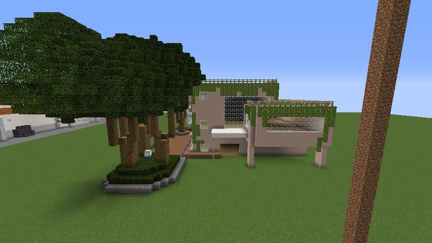 Minecrafterししゃもがマインクラフトでぷっこ村にスタジオジブリを再現する6