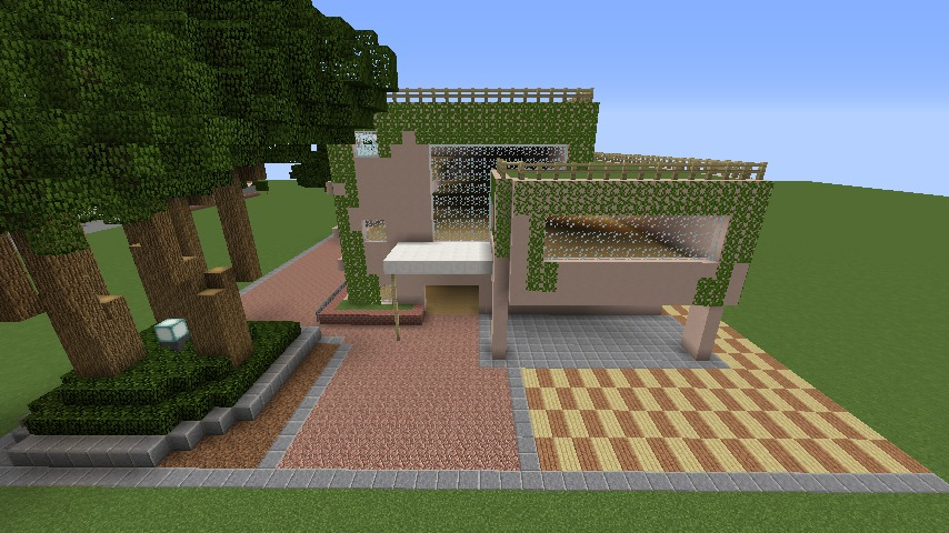 Minecrafterししゃもがマインクラフトでぷっこ村にスタジオジブリを再現する7