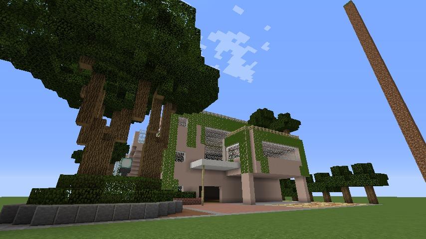 Minecrafterししゃもがマインクラフトでぷっこ村にスタジオジブリを再現する8