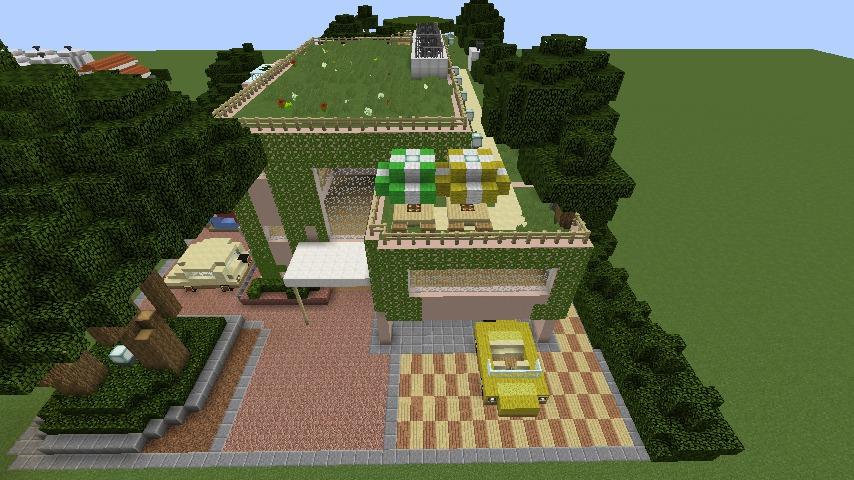 Minecrafterししゃもがマインクラフトでぷっこ村にスタジオジブリを再現する11